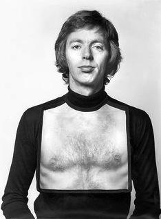 Gijs Bakker wearing his Bib, made in 1976