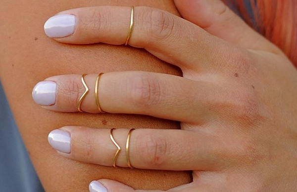 Gold-plated Chevron bands