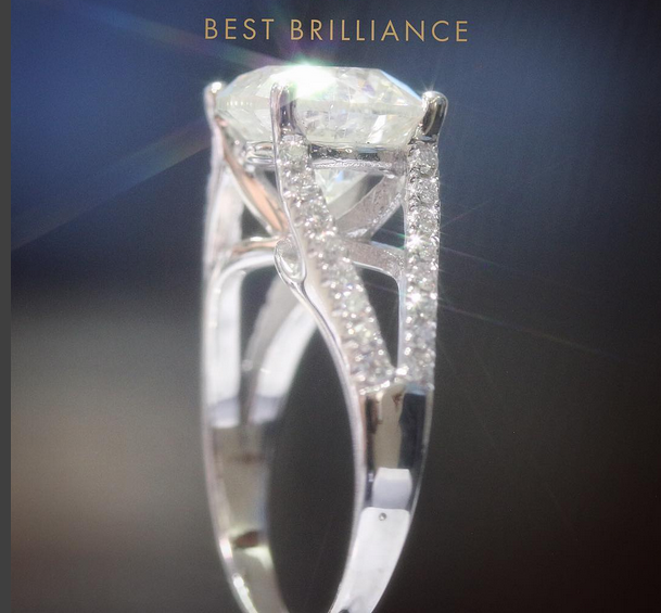 Handmade diamond ring Best Brilliance