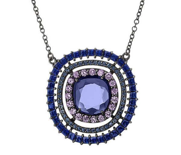 Sapphire and spinel pendant by Shawn Warren