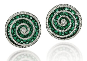 JAR emerald spiral earrings