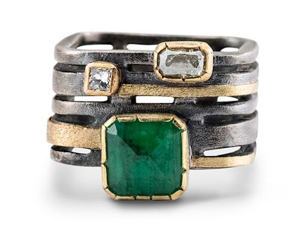 Janine DeCresenzo emerald diamond ring