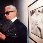 Karl Lagerfeld with fan