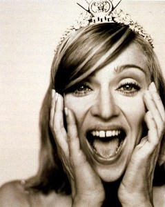 Madonna in Versace tiara
