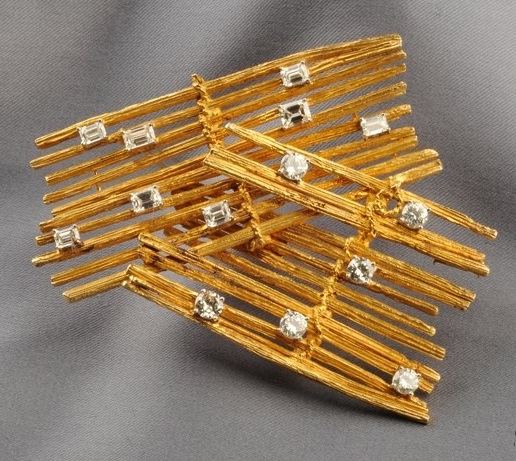 "Marianne Ostier ""Fences"" brooch"