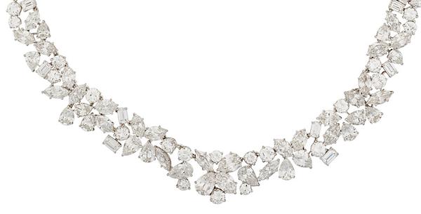 Marianne Ostier diamond platinum necklace