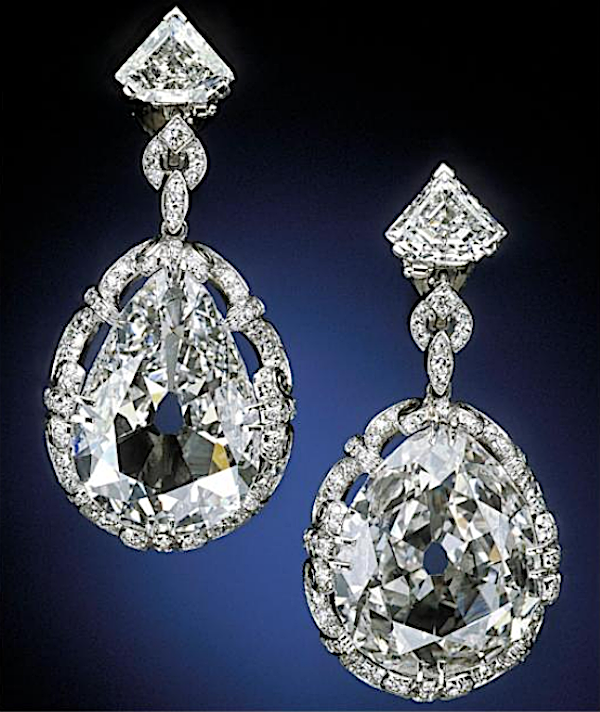 Marie Antoinette's diamond earrings, c. 1770s-1780s