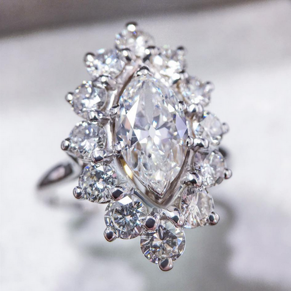 Marquise diamond ring - BestBrilliance