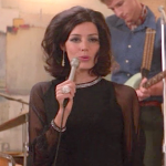 Megan singing  in Mad Men