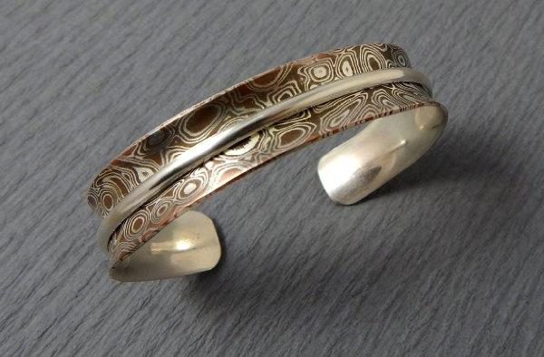Mokume gane bracelet by Francine
