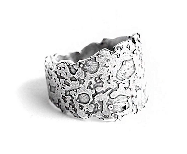 """Moonology"" ring of sterling silver by Birds N Bones Jewelry ($79 at JewelStreet)"