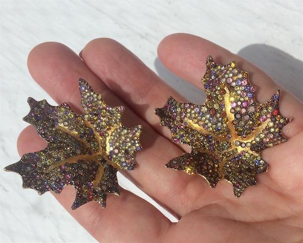 Naomi Sarna maple leaf earrings