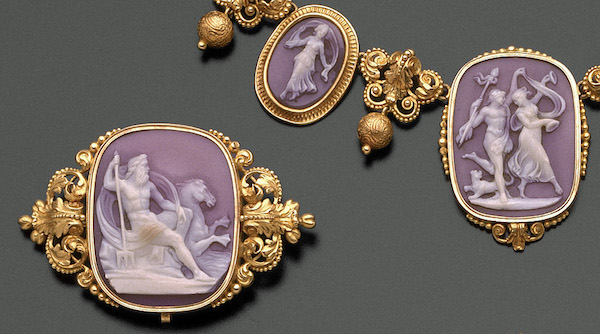 Brooch about 1840 Shell, gold * Gift of the Misses Cornelia and Susan Dehon in memory of Mrs. Sidney Brooks * Photograph © Museum of Fine Arts, Boston
