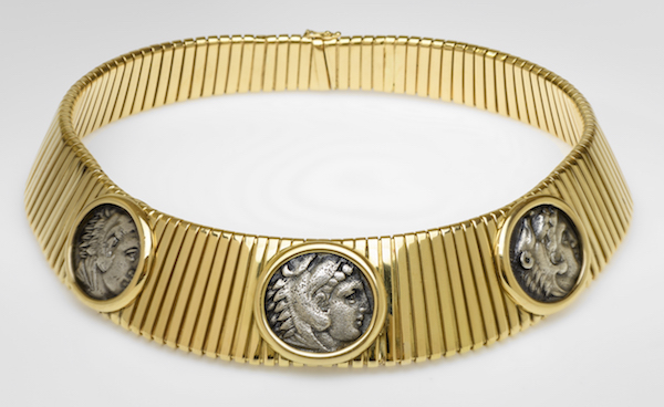 Gold and Ancient Coin Necklace Bulgari (Italian, founded in 1884) 1980s 18kt gold and ancient coins * William Francis Warden Fund and Morris and Louise Rosenthal ?Fund * Photograph © Museum of Fine Arts, Boston