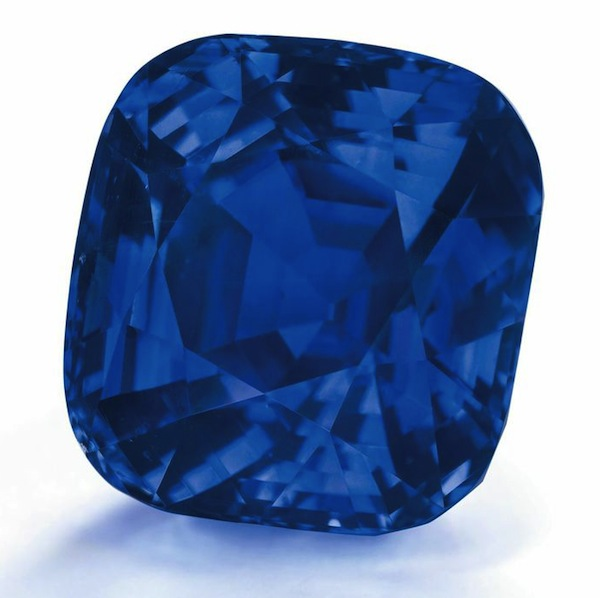 a 35.09ct cushion-shape Kashmir sapphire estimated at $3-4.2mil