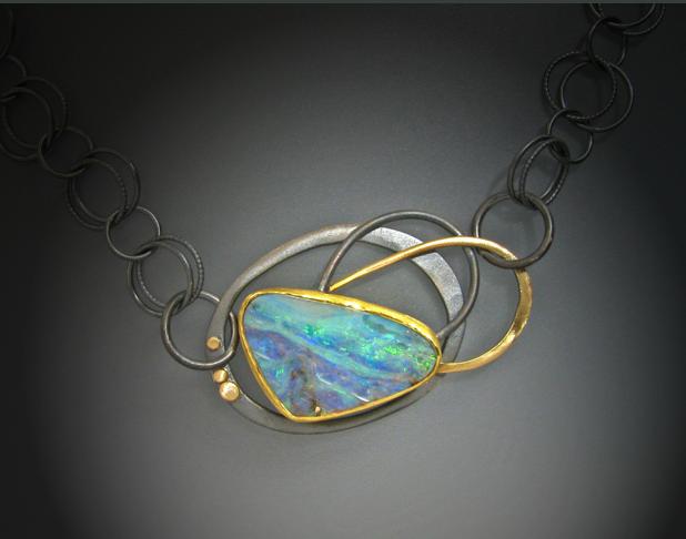 Opal Swirl necklace Judith Neugebauer