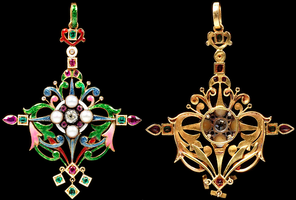 Pendant by Charlotte Newman, c. 1890