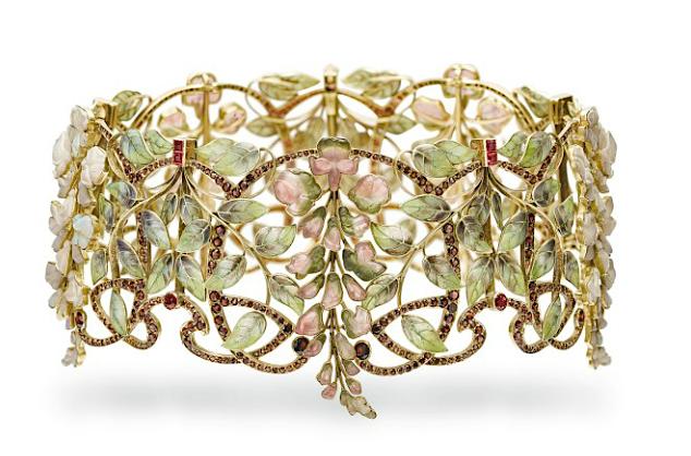 Philippe Wolfers' Glycine collar, 1900