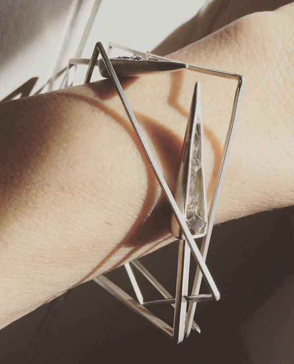 "My own ""Points"" bracelet stack by Niki Grandics of ENJI Studios"