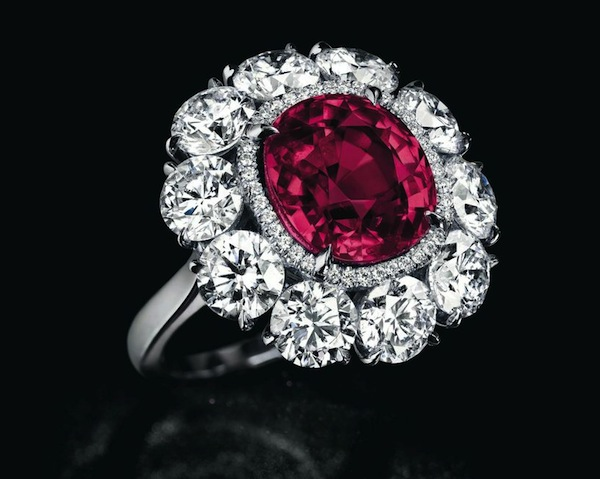 Cushion?shaped 6.25ct Burmese ruby and diamond ring estimated at $1.8-2.5mil at Christie's Geneva May 13, 2015