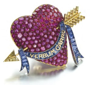 Puffy heart brooch by Paul Flato