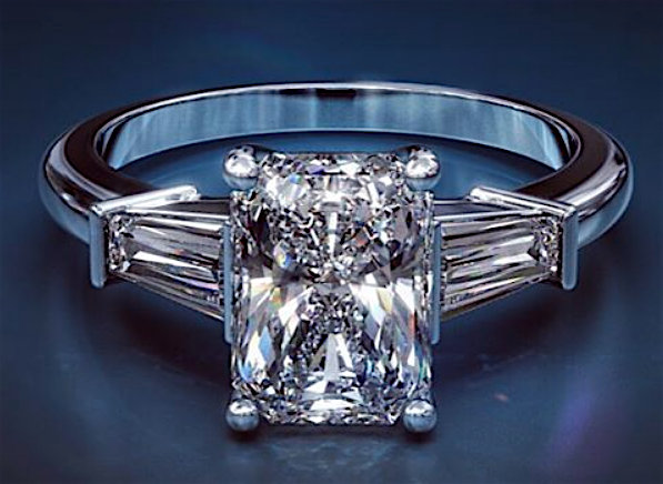 Radiant-cut diamond