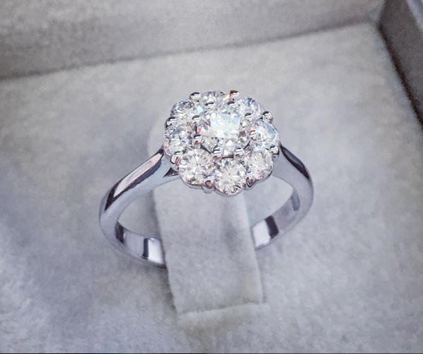 Romantic diamond ring-BestBrilliance