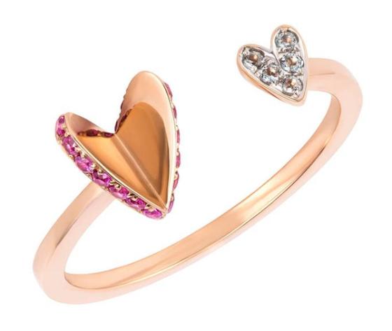 Ruifier Flutter Heart Ring