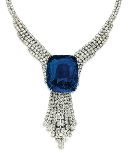 Belle of Asia 392ct sapphire necklace, Christie's Geneva 2014