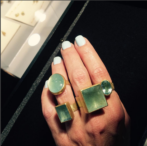 Aquamarine rings by Petra Class