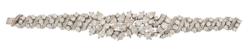 Bracelet of diamonds and platinum attributed to Marianne Ostier, c. 1955