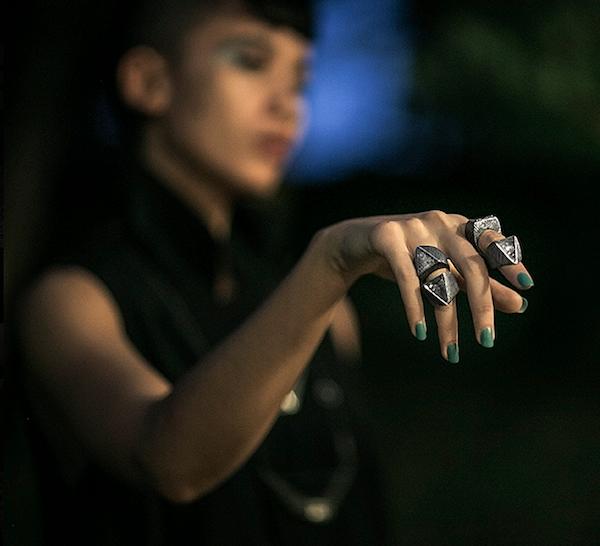 "Mariella Pilato ""Pyramid"" rings"