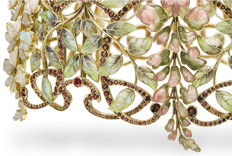 "Philippe Wolfers' ""Glycine"" collar, 1900"