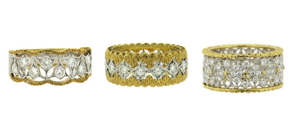 Buccellati gold and diamond bands