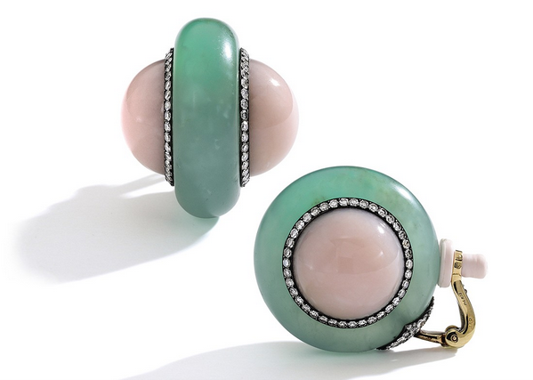 JAR pink opal ear clips (photo Sotheby's Images)