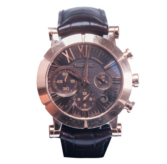 Tiffany & Co rose gold Atlas chronograph