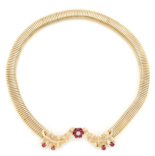 Necklace of gold, rubies and diamond sold for $1,000 at Doyle New York in 2017
