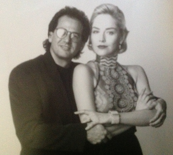 Sharon Stone and Martin Katz