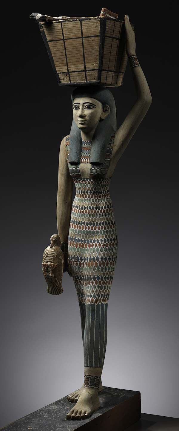 Statue of an Offering Bearer of wood, gesso, paint from Egypt, c. 1981–1975 BC (Metropolitan Museum of Art)