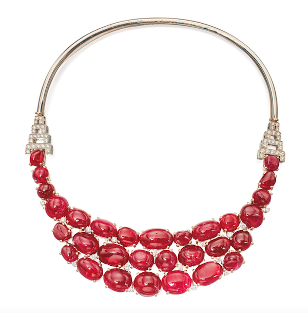 Necklace of white gold, platinum, spinel and diamond by Suzanne Belperron sold for $181,250 at Sotheby's NY in December 2016