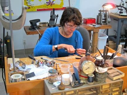 Sydney Lynch in her studio