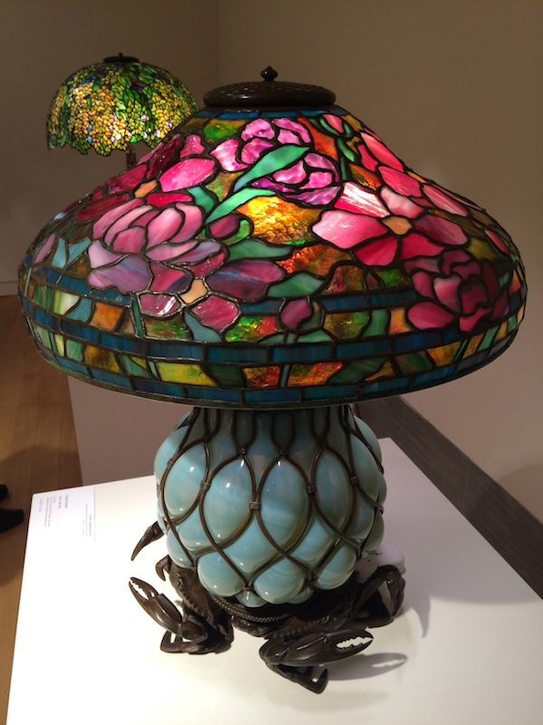 Tiffany lamps at Sotheby's (photo Cathleen McCarthy/The Jewelry Loupe)