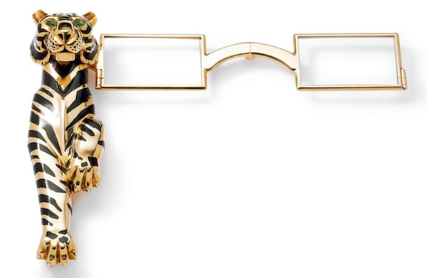 Tiger lorgnette owned by Duchess of Windsor (c) Cartier copy