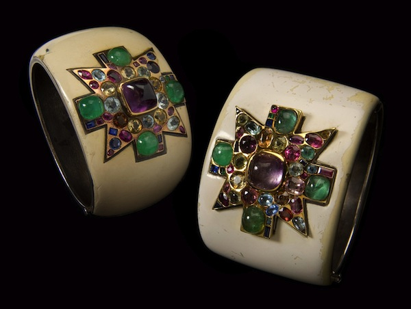Maltese Cross cuffs designed for Coco Chanel by Verdura, 1930  (photo Tom DuBrock)