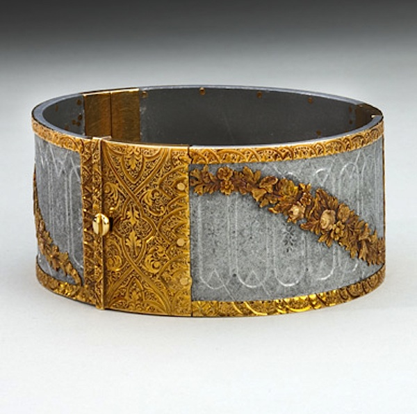 Bracelet of aluminum and gold, c. 1858, France (Carnegie Museum of Art, Pittsburgh)