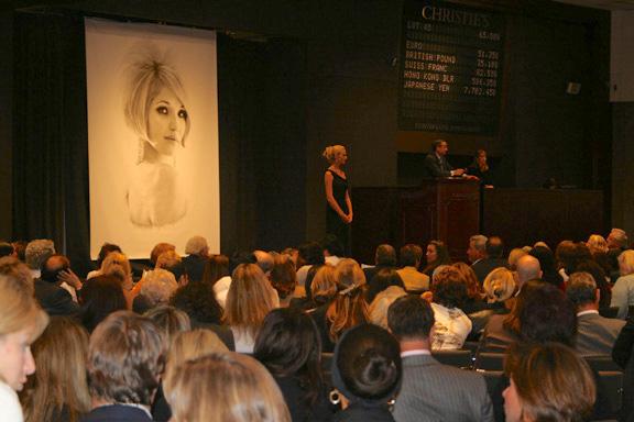 Christie's sale of Ellen Barkin's jewelry in October 2006 (photo Cathleen McCarthy)