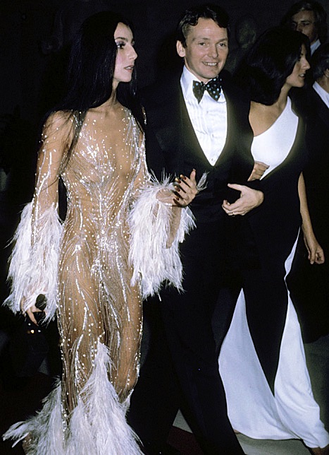 Cher and Bob Mackie 1974 Met Gala