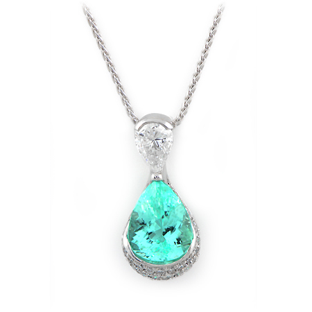Paraiba pendant from Wixon Jewelers