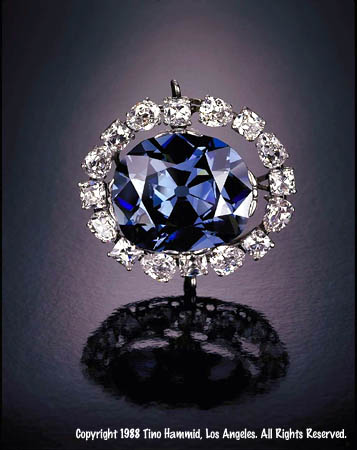 Hope Diamond in Cartier setting, 1910 (collection Smithsonian Institution/photo Tino Hammid)