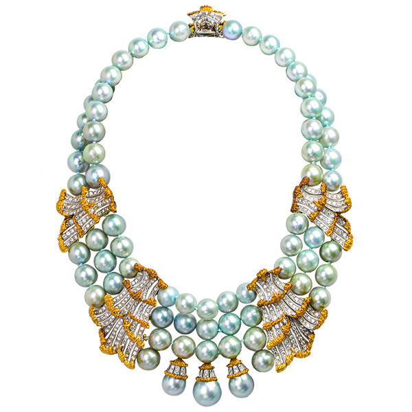 Buccellati pearl diamond necklace